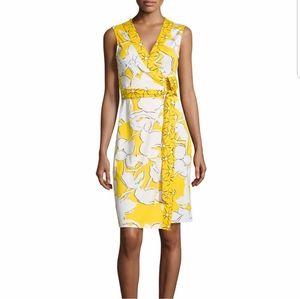 Diane von Furstenberg Silk Wrap Yellow Dress